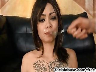 Asian Slut Leilani Vega Throated And Degraded