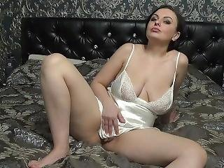 3 Orgasms From Satin Masturbation! My Gf Kattie