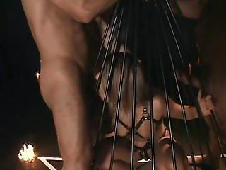 肛門の, ブロンド, フェラチオ, ボンデージ, ケージ, 精液をショット, 小犬スタイル, 支配する, Dp, フェイシャル, スレーブ, スパンキング, ワックス