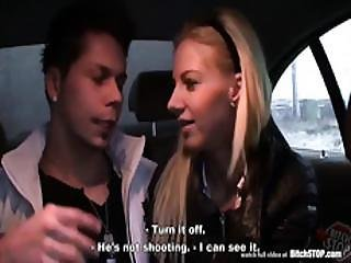 Bitch Stop - Smoking Hot Blonde In Car Action
