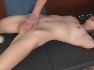blonde, bondage, universiteit, hardcore, masturbatie, orgasme, sexy, kleine tieten, Tiener, vast gebonden, marteling, spellen, vibrator