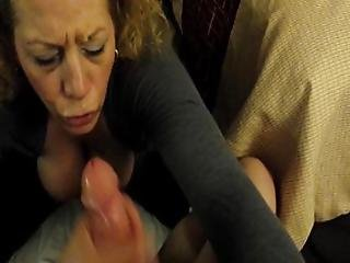 Busty Milf With Pigtails Giving Pov Blowjob