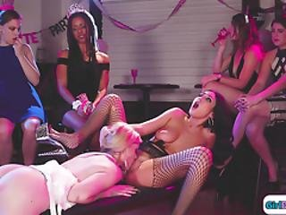 Bachelorettes Lapdance Turns Into Facesitted By The Stripper