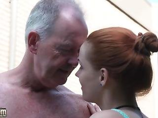 Teen Nympho Fucked Hardcore In Old And Young Porn Video By Grandpa