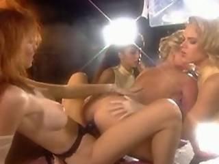 Lesbian Orgy With Liquid Latex