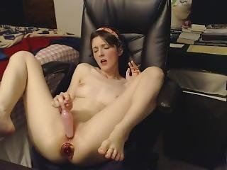 Glass Plug In My Ass, Squishy Plug In My Pussy!