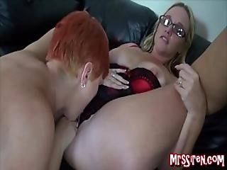 Married Lesbians Play At Swingers Club