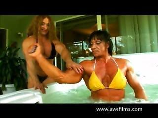 Colette Guimond And Jana Linke-sippl Mega Muscle X 2 - The Hot Tub