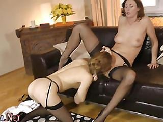 Stockings Brit Tongued