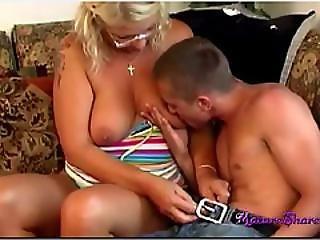 Big Tit Mature Slut Fucks Young Stud