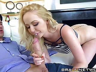 Stunningly Cute Blonde With Big Tits Takes On A Monster Dick