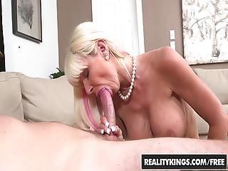 Blond, Blowjob, Pupp, Penger, Sperm, Hardcore, Milf, Virkelighet, Sex