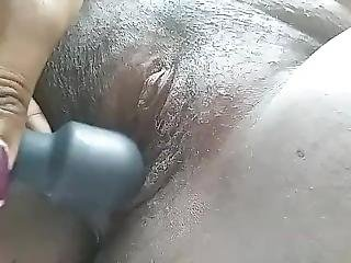 Nipple Clamps & Vibrator Fun For This Bbw