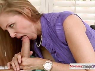 Classy Stepmom Rubs Pussyfucked Teens Clit