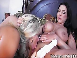 Hot Busty Milf Vicky Vette Plays With Big Titted Brunette%21