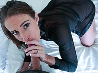 Stepmom Teasing Her Stepson To Get His Dick Hard