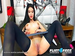 Nazanin Hunter - Flirt4free - Hispanic Bi Sexual Babe With Huge Tits Dps Her Sweet Tight Love Holes