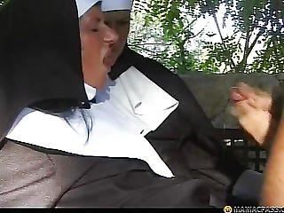 Fucking, Hungry, Mature, Nun, Outdoor, Sex