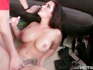 Threesome With Tattoed Whore