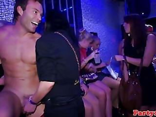 Amateur Euro Partyslut Spitroasted By Stripper