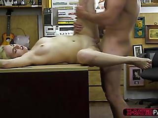 Blonde Bimbo Woman Wants To Sell A Speaker And Gets Banged By Shawn
