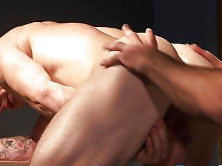 Muscular Homo Group Ball Batter