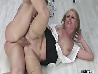 Office Slut Takes A Rough Fuck