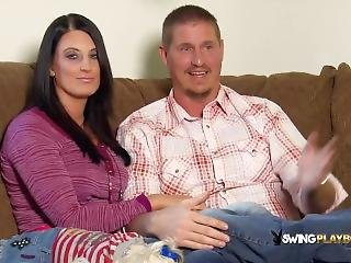 Horny Couples Take A Tour Around The Swing House Before Party