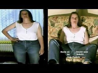 røv, stor røv, tysk, jeans, alene