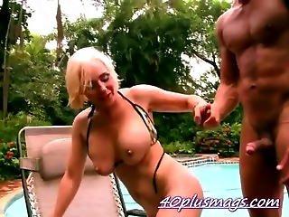 Blonde Divorcee Fucks A New Big Stud
