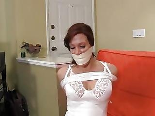 Bdsm, Bondage, Hogtied, Mature, Slim, Tied