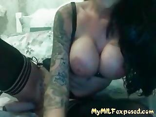 My Bimbo Milf Exposed Playing With Her Toy On Cam Hot Bitch