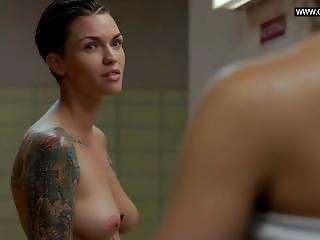 Ruby Rose - Tattoos, Butt & Boobs - Orange Is The New Black S03e09