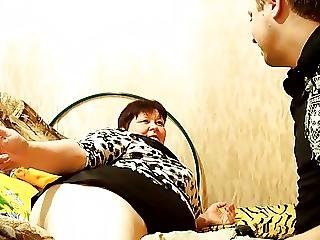 Bbw Granny Riding On Young Dick 1