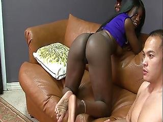Kay Love Busts Balls And Gets Tight Ebony Pussy Fucked