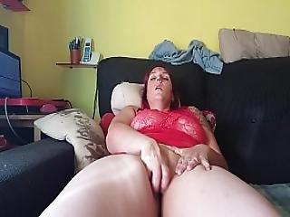 Bbw, Cycek, Dildo, Palcówka, Masturbacja, Orgazm, Cipka, Ogolona, Zdzira, Solo