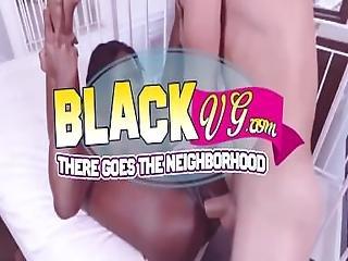 Black Schoolgirl Riding White Dick
