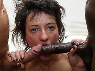 anale, ragazzi, hardcore, interrazziale, sesso a tre
