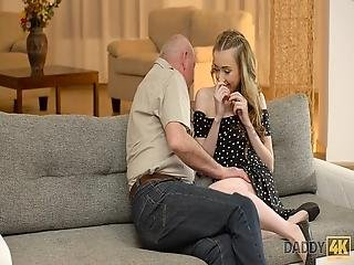 Daddy4k Lucky Old Man Receives Blowjob And Fucks