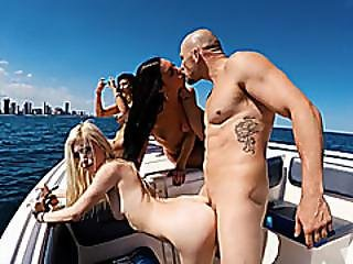 Group Of Horny Besties Boat Party Turns Into Horny Orgy