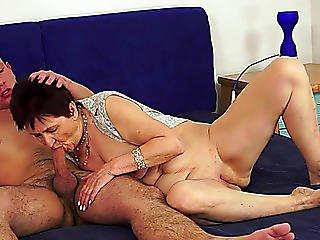 Older Slut Rides Thick Shaft After Engulfing It