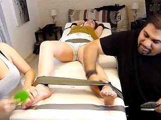 Frenchtickling - Camily Punishes Justyn On The Table