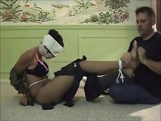 Ebony Bound Gagged And Blindfolded