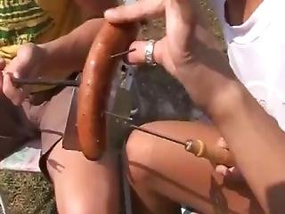 Cute Teen Babe Creampie Xxx Anal Drilled At Bbq Party