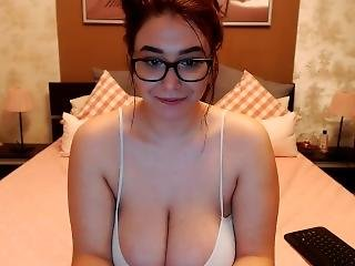 All Smiles Curvy Cammer With Large Cleavage Shows Her Soft Tits