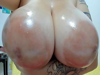 Latina With Glasses Shows Big Boobs And Large Areolas 2