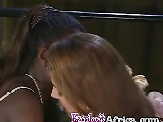 Rough Threesome Fucking With Nasty Ebony And White Whores Who Got Pounded Very Hard By A Big Cocked Horny Stud In Cowgirl Position