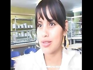 Busty Curvy Latina Teen Johanna Gets Creampied