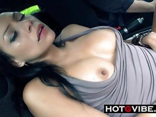 Squirting In The Car Before Hooking Up
