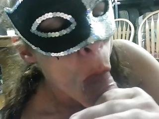 Hot Blow Job. She Gets Off Sucking Me Dry